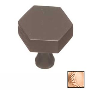 "Colonial Bronze 1"" Hex Knob In Satin Bronze"