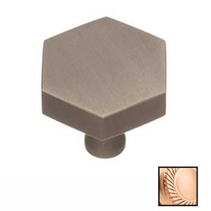 "Colonial Bronze 1 1/4"" Hex Knob In Satin Bronze"