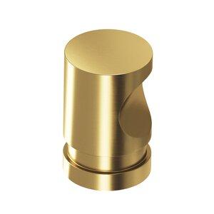 "Colonial Bronze 1"" Diameter Thumbprint Knob in Satin Brass"