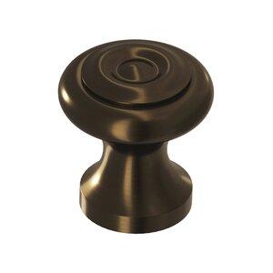 "Colonial Bronze 1 1/2"" Knob In Unlacquered Oil Rubbed Bronze"