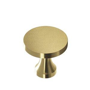 "Colonial Bronze 3/4"" Diameter Knob in Antique Satin Brass"