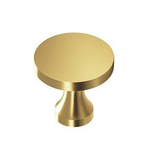 "Colonial Bronze 1 1/8"" Knob In Satin Brass"