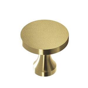 "Colonial Bronze 1 1/8"" Diameter Knob in Antique Satin Brass"