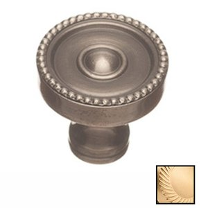 "Colonial Bronze 1 1/8"" Diameter Knob in Satin Brass"