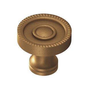 "Colonial Bronze 1 1/4"" Knob In Distressed Statuary Bronze"