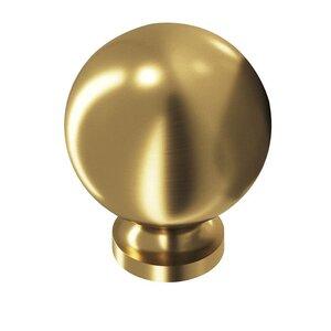 "Colonial Bronze 1 1/4"" Ball Knob in Satin Brass"
