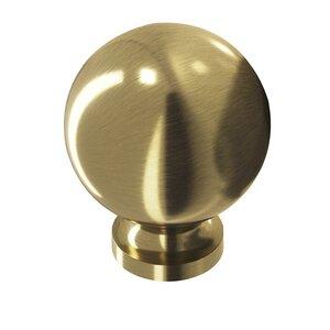 "Colonial Bronze 1 1/4"" Ball Knob in Antique Satin Brass"