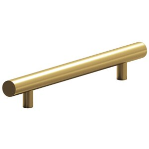"""Colonial Bronze 8"""" Centers Surface Mount European Bar Pull in Satin Brass"""