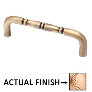 """Colonial Bronze 8"""" Centers Traditional Thru Bolt Pull in Satin Bronze"""