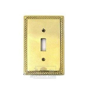 Colonial Bronze Arlington Single Toggle Switchplate in Polished Brass