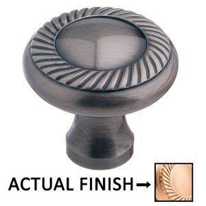 "Colonial Bronze 1 1/4"" Rope Knob In Satin Bronze"