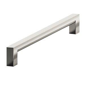 "Colonial Bronze 6"" Centers Rectangular Pull in Satin Nickel"