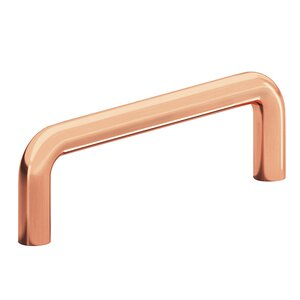 """Colonial Bronze 3"""" Centers Wire Pull in Polished Copper"""