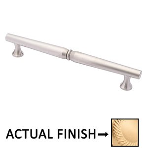 """Colonial Bronze 10"""" Centers Traditional Pull in Satin Brass"""