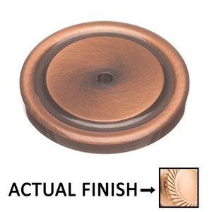 "Colonial Bronze 1 1/2"" Diameter Rose In Satin Bronze"
