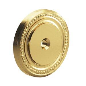 """Colonial Bronze 1 1/2"""" Diameter Beaded Rosette in Satin Brass"""