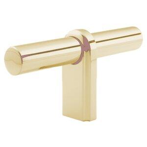 """Classic Brass 3 1/8"""" T Knob in Revere Brass"""