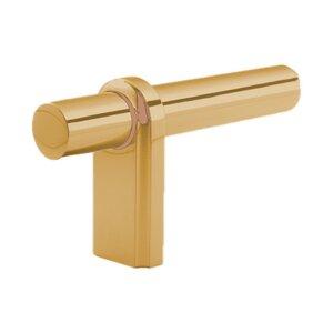 """Classic Brass 3 1/8"""" L Knob in Tarnished"""
