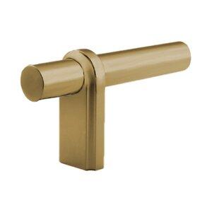 "Classic Brass 3 1/8"" L Knob in Weathered Brass"