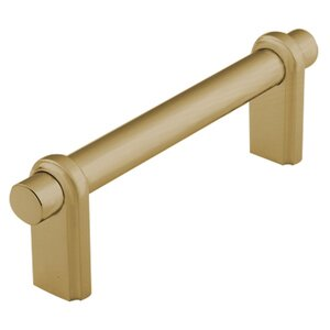 """Classic Brass 4"""" Centers Pull in Weathered Brass"""