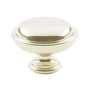 "Classic Brass 1 1/4"" Diameter Knob in Polished Silver"
