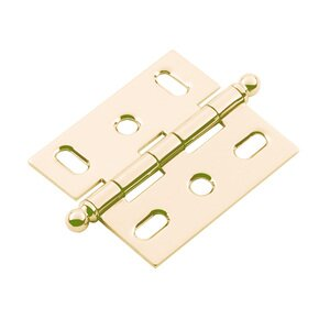 Classic Brass Mortise Hinge in Antique Polished Silver