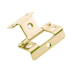 """Classic Brass 3/4"""" Full Wrap Hinge with Ball Finial in Antique Polished Silver"""