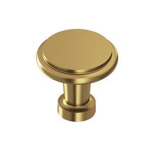 "Colonial Bronze 1 1/16"" Knob in Satin Brass"
