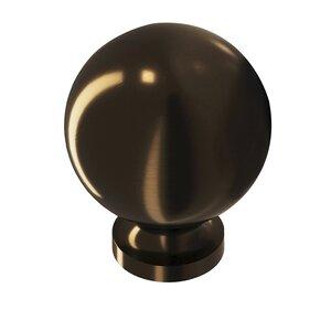 "Colonial Bronze 1 1/4"" Knob in Unlacquered Oil Rubbed Bronze"