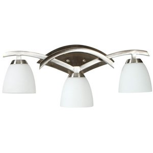 Craftmade Triple Bath Light in Brushed Nickel with Cased Frost White Glass