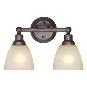 Craftmade 2 Light Vanity in Bronze with Frosted Glass