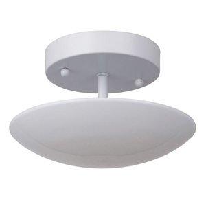 Craftmade 1 Light LED Semi Flush in White