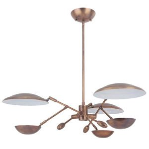 Craftmade 3 Arm LED Chandelier in Patina Aged Brass