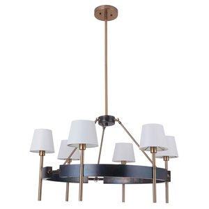 Craftmade 6 Light Chandelier in Fired Steel/Satin Brass