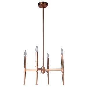 Craftmade 4 Light Pendant in Satin Brass