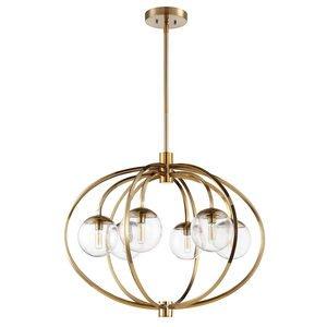 Craftmade 6 Light Chandelier in Satin Brass