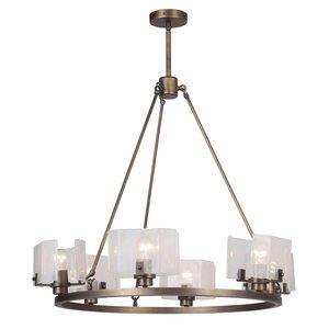 Craftmade 6 Light Chandelier in Patina Aged Brass