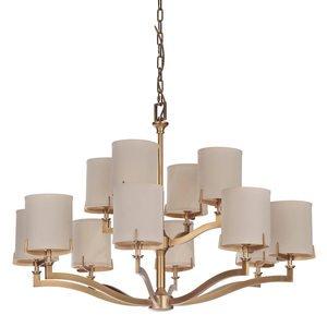 Craftmade 12 Light Chandelier in Vintage Brass