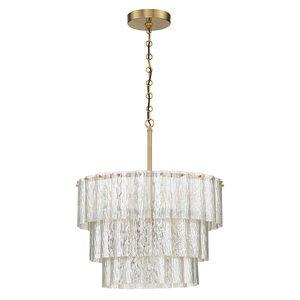 Craftmade 10 Light Pendant in Satin Brass