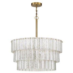 Craftmade 6 Light Pendant in Satin Brass