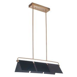 Craftmade 3 Light LED Island in Gloss Black/Satin Brass
