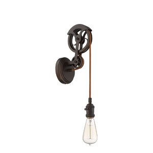 Craftmade 1 Light Keyed Socket Pully Wall Sconce Hardware in Aged Bronze Brushed
