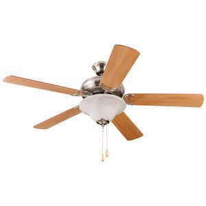"""Craftmade 52"""" Decorator's Choice Ceiling Fan in Brushed Polished Nickel"""