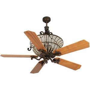 "Craftmade 52"" Ceiling Fan in Peruvian with Custom Wood Blades in Walnut"