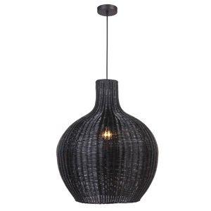 Craftmade 1 Light Woven in Matte Black