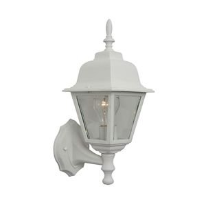 Craftmade 1 Light Small Wall Mount in Matte White with Clear Beveled Glass