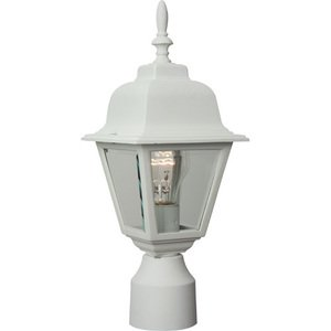 """Craftmade 6"""" Exterior Post Light in Matte White with Clear Beveled Glass"""