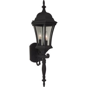"""Craftmade 9 1/2"""" Exterior Wall Light in Matte Black with Clear Glass"""