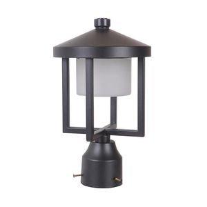 Craftmade Medium LED Post Mount in Midnight