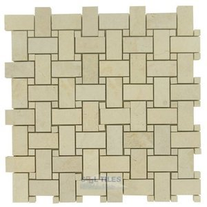 basketweave marble and travertine mosaic tiles basketweave in